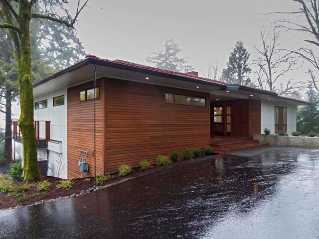 Sw portland midcentury modern remodel h hudson homes Contemporary homes portland